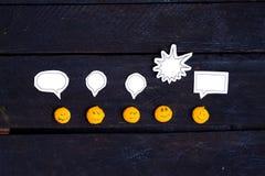 Uśmiech twarzy opowiadać Fotografia Stock