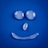 Uśmiech wody krople Zdjęcie Royalty Free