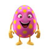Uśmiechać się Easter jajko, śmieszny 3D postać z kreskówki royalty ilustracja