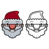 Uśmiechać się Santa głowę Obraz Royalty Free