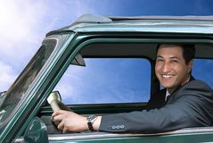 uśmiecha się kierowcy Obrazy Royalty Free