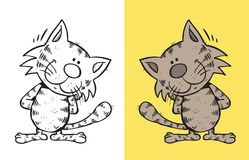 uśmiecha się kota royalty ilustracja