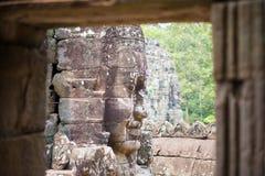 Uśmiecha się twarz w Angkor Thom, Siem Przeprowadza żniwa, Kambodża Zdjęcia Royalty Free