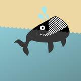 uśmiechający się ilustracyjny wieloryb Obrazy Royalty Free