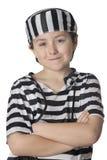 uśmiechający się kostiumowy dziecko więzień Zdjęcia Stock