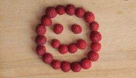 Uśmiechający się Rapsberry Stawia czoło Fotografia Royalty Free