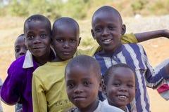 Uśmiechnięci afrykanów dzieciaki od Uganda Fotografia Royalty Free