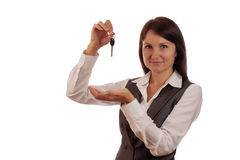 Agenta nieruchomości seansu klucze Obrazy Stock