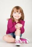 uśmiechnięci dziewczyn potomstwa fotografia stock