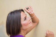 uśmiechnięci młodych kobiet fotografia Obrazy Stock