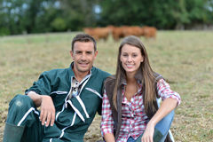 Uśmiechnięci rolnicy zdjęcia stock