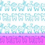 Uśmiechnięci stomatologiczni symbole Obraz Royalty Free