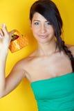 uśmiechnięci truskawek kobiety potomstwa Obrazy Stock