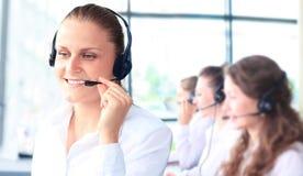 Uśmiechnięta żeńska obsługa klienta zdjęcie royalty free