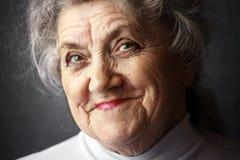 Uśmiechnięta babci twarz Obraz Stock