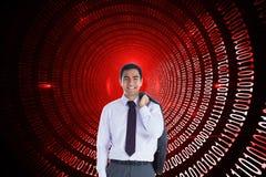 Uśmiechnięta biznesmen pozycja Zdjęcia Stock