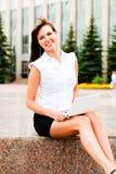 Uśmiechnięta biznesowa kobieta fotografia royalty free