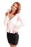 Uśmiechnięta biznesowa kobieta Zdjęcie Royalty Free