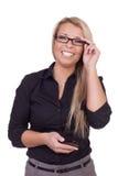 Uśmiechnięta biznesowa kobieta Obraz Stock