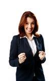 Uśmiechnięta bizneswoman pozycja obraz royalty free