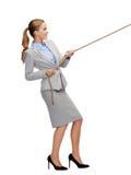 Uśmiechnięta bizneswomanu ciągnięcia arkana Zdjęcie Stock