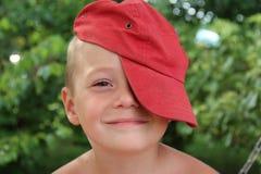 Uśmiechnięta chłopiec Fotografia Royalty Free