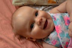 Uśmiechnięta dziecko fotografia Piękny obrazek, tło, tapeta Obraz Royalty Free