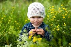 Uśmiechnięta dziewczyna Zdjęcia Royalty Free