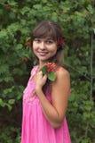Uśmiechnięta dziewczyna obrazy royalty free