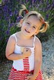 Uśmiechnięta dziewczyna z pleceniami zdjęcia royalty free