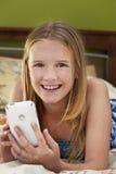 uśmiechnięta dziewczyny technika Fotografia Stock