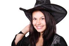 uśmiechnięta Halloween czarownica Fotografia Royalty Free