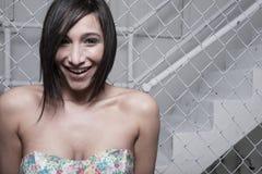 uśmiechnięta headshot kobieta Obrazy Stock