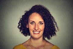 uśmiechnięta headshot kobieta zdjęcie stock