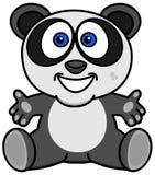 Uśmiechnięta i szczęśliwa panda z otwartymi rękami ilustracji
