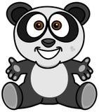 Uśmiechnięta i szczęśliwa panda z otwartymi rękami royalty ilustracja