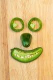 Uśmiechnięta Jalapeno Pieprzu Twarz Zdjęcia Stock