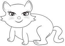 Uśmiechnięta kot kolorystyki strona Zdjęcia Stock