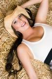 uśmiechnięta kraj kobieta Fotografia Royalty Free
