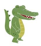 uśmiechnięta krokodyl kreskówka Zdjęcia Stock