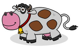 Uśmiechnięta krowa na profilu Obraz Stock