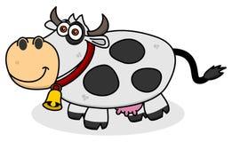 Uśmiechnięta krowa na profilu Zdjęcie Stock