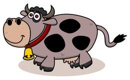 Uśmiechnięta krowa na profilu Obrazy Stock
