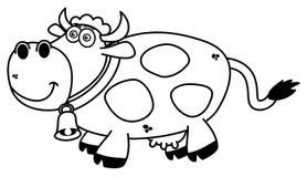 Uśmiechnięta krowy kolorystyka royalty ilustracja