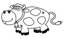 Uśmiechnięta krowy kolorystyka ilustracji