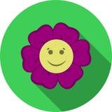Uśmiechnięta kwiat ikona Zdjęcia Royalty Free