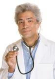 Uśmiechnięta lekarka z Stethescope Obrazy Royalty Free