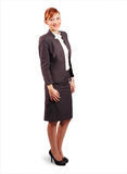 Uśmiechnięta młoda biznesowa kobieta Fotografia Royalty Free
