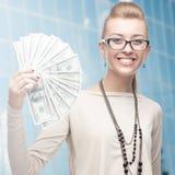 Uśmiechnięta młoda biznesowa kobieta Zdjęcie Stock