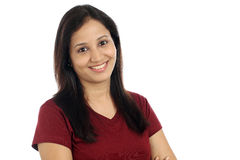 Uśmiechnięta młoda Indiańska dziewczyna Fotografia Stock